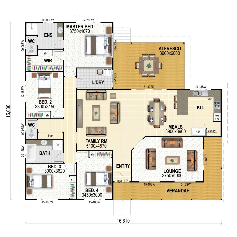 Flinders Floor Plan New Home Design