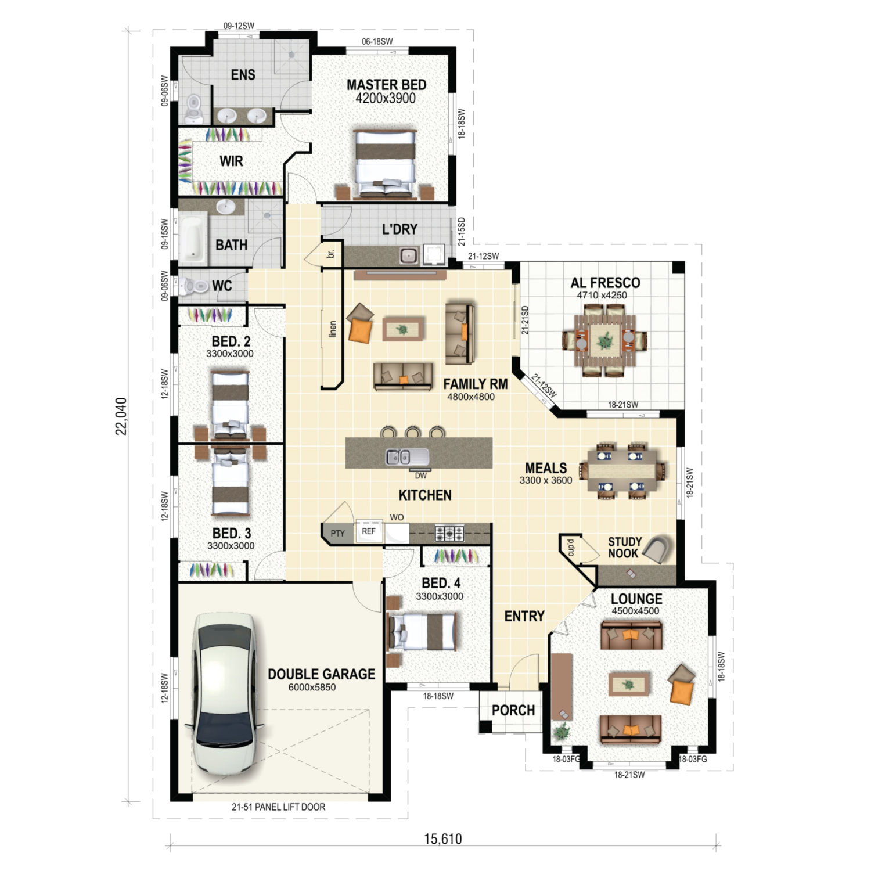 Hawthorne Floor Plan New Home Design
