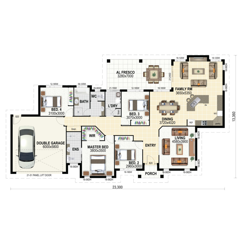 Longreach Floor Plan New Home Design