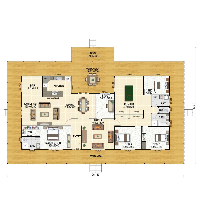 Maranoa Floor Plan New Home Design