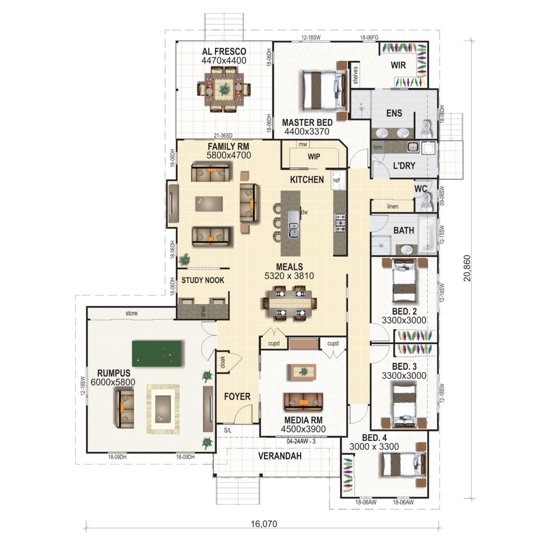 Windsor WBR Floor Plan New Home Design