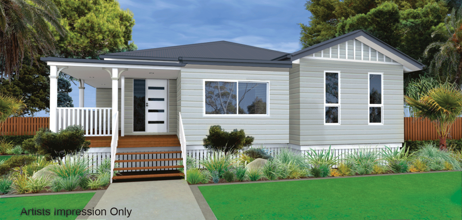 Windsor 193 Weatherboard on Stumps Home Design Facade